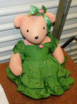 RARE Scarlett O'Beara VINTAGE *HUGE* Teddy Bear 1979 North American Green Dress (Gone with The Wind)