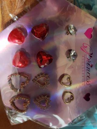 6 pair Valentine's Earrings