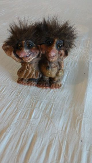 "Nyform twin trolls 3"" Handmade in Norway February 14th, 1997 Free shipping"