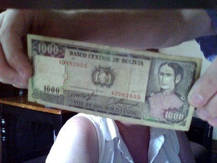 Free: 1000 dollar bill from Bolivia - Coins - Listia com