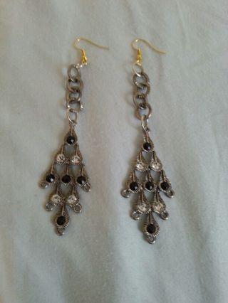 Rhinestone Dangling Earrings