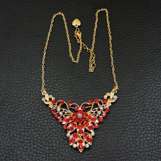 ❤️Betsey Johnson Butterfly Red Crystal Necklace -NEW