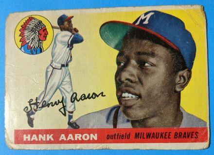 1955 HANK AARON ( SECOND TOPPS CARD )