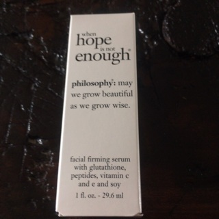 Philosophy Brand new in box facial firming serum