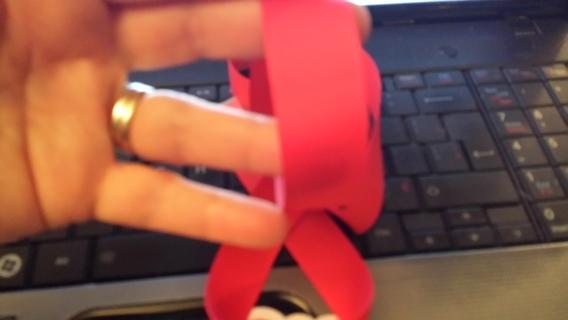 "1 yd. Cranberry Grosgrain Ribbon 7/8"" wide"