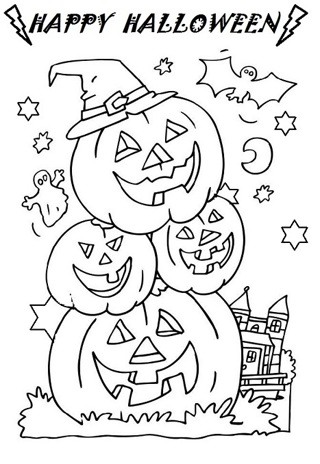 •❤️• (New) 8 Halloween Kids Coloring Sheets -#3 •❤️•