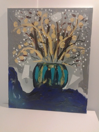 winter flowers oringal art on canvas direct from artist owned gallery