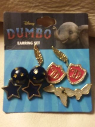 Disney Dumbo The Elephant Movie 10 Piece Earring Set by Bioworld