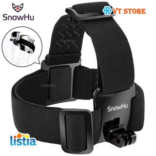SnowHu for Head strap mount For Gopro Hero 7 6 5 4 3+ Xiaomi yi 4K Action Camera For Eken H9 SJCAM
