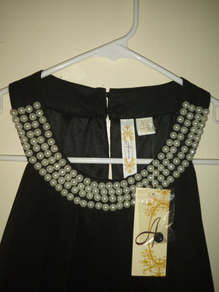 Black pearl trimmed top NEW WITH TAGS !