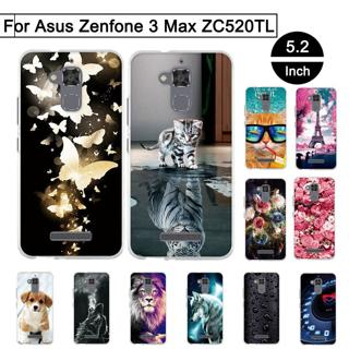 TPU Case For Asus Zenfone 3 Max ZC520TL 5.2 inch Back Phone Covers For Asus Zenfone 3 Max ZC520TL