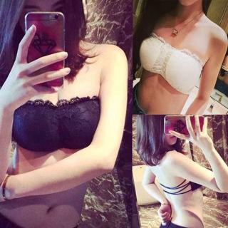 New Sexy Women Floral Sheer Lace Triangle Bralette Bra Bustier Unpadded Crop Top