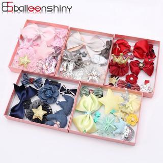 BalleenShiny 10PCS Headwear Set Baby Girls Bowknot Crown Hair Clip Princess Headdress Cute Head Ro