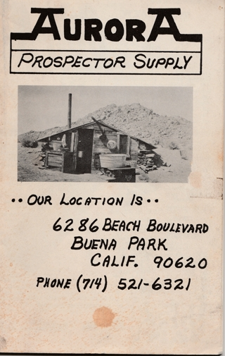 Aurora Prospector Supply Catalog--Metal Detectors