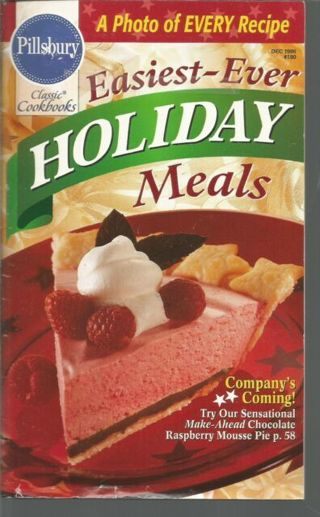 a photo with every recipe=NEW EASIEST EVER HOLIDAY MEALS COOKK BOOK