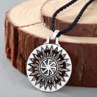 Free: QIMING Kolovrat Handmade Pendant Necklace Slavic Amulet Pagan