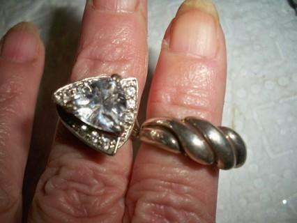 2 Sterling silver rings