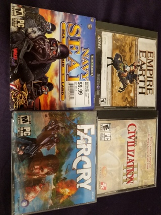 Lot of 4 Popular PC Video Games