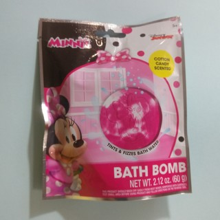 MINNIE MOUSE Disney Junior Kids Bath Bomb Cotton Candy Scented NEW - Free Shipping