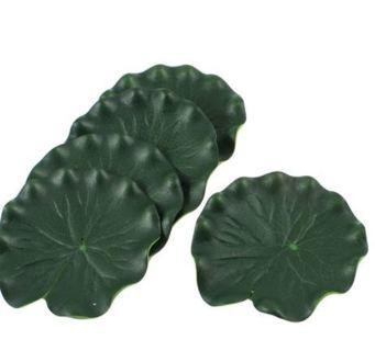 "5Pcs Aquarium Fish Tank Green Lotus Leaf Foam Floating Decor 3.9"" Dia"
