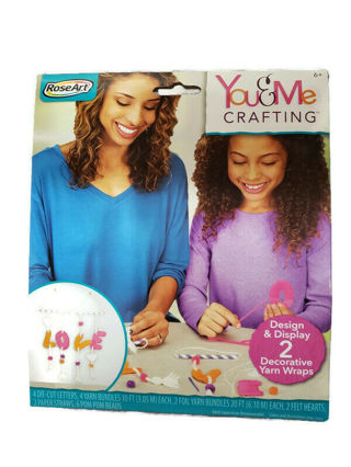 Rose Art You and me Crafting 2 decorative Yarn Wraps/craft kit for Kids/Crafting