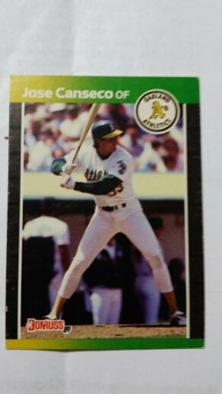 Free Jose Canseco Donruss 89 Baseball Card Sports Trading