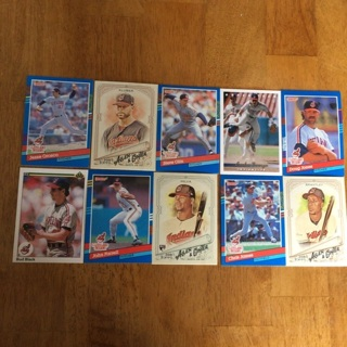 (17) Cleveland Indians Baseball Cards Lot