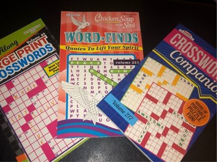 3 adult word puzzle books **GIFT**!!