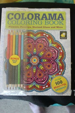 COLORAMA Adult Coloring Book W 12 Colored Pencils As Seen On TV