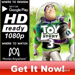 TOY STORY 3 HD GOOGLE PLAY CODE ONLY