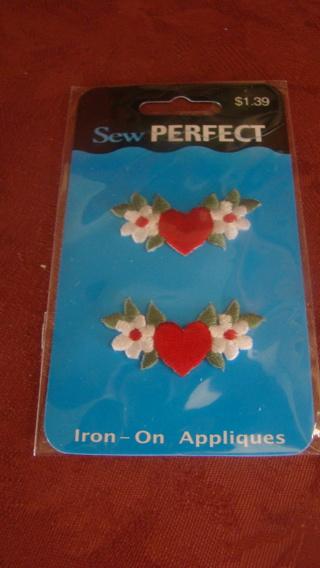 2 iron on applique
