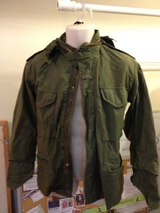 Free: MENS MILITARY STYLE JACKET - GREEN FIELD COAT - MEN'S CASUAL ...
