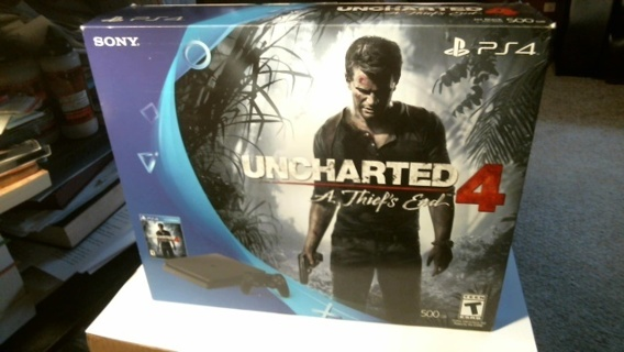 """New Sealed Unopened: """"PS4 Uncharted 4 A Thief's End 500 GB"""""""
