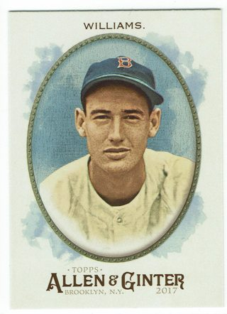Ted Williams Hot Box Foil Allen & Ginter's 2017 Boston Red Sox