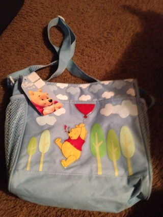 Small diaper bag with phoo beat on it