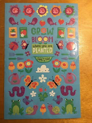 HAPPY GARDEN STICKERS ONE SHEET