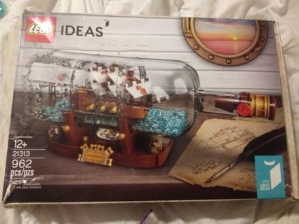 Lego set Ship in a Bottle Ages 12 & up