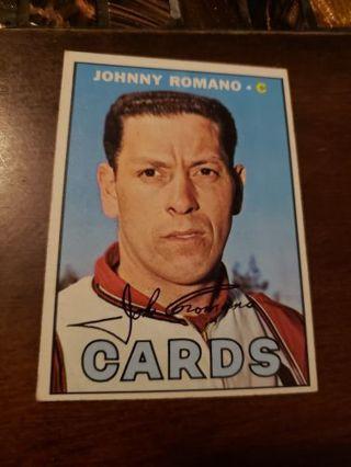 1967 John Romano St. Louis cardinals vintage baseball card