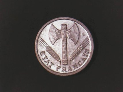 1943 One Franc Coin.