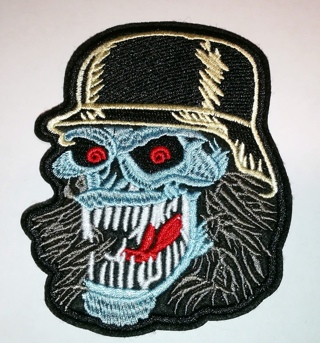 Skull Embroidered Cloth Iron On Patch