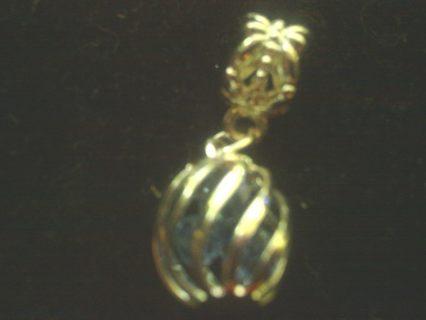 Tibetan Silver Birthstone light blue Swarovski Crystal Beads inside cage