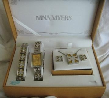 Free  Nina Myers 5pc Jewelry Set Earrings 1199a560f630