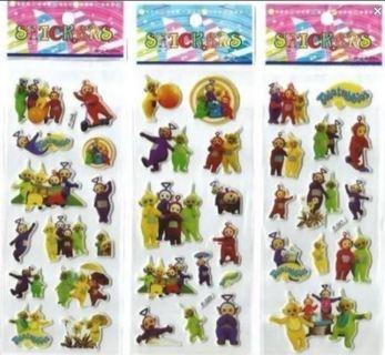 Teletubbies Puffy Foam Stickers kids children Vibrant Detailed scrapbook FREE SHIPPING