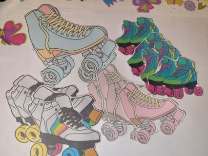 15 NEW ROLLAR SKATE STICKERS FREE SHIPPING