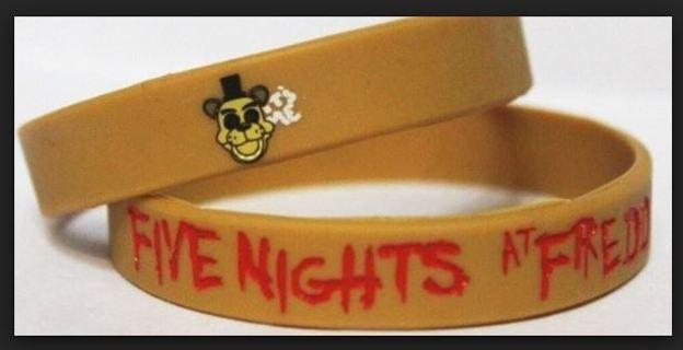 NEW Five Nights at Freddy's Wrist Band Freddy Fazbear bracelet wristband Video Game