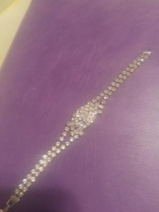 Like new! Beautiful tennis clear rhinestone bracelet