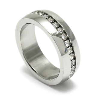 Stainless Steel Men's Eternity Multi CZ Wedding Band - Size 10 - Special Order & GIN - Ships FREE!!!