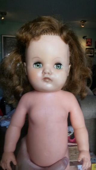 "vintage HORSMAN magic skin 17"" doll -"