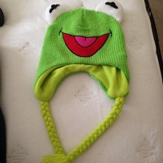 Free  Kermit The Frog Winter Hat! Unisex - Boys  Clothing - Listia ... 22635615037