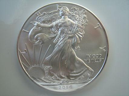 2014 Silver Eagle 1 OZ .999 Fine Silver